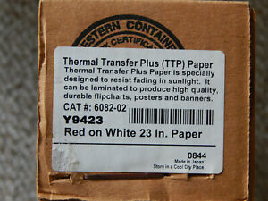 Thermal Transfer Plus Ttp 23 Red On White Y9423 Poster Printer Paper