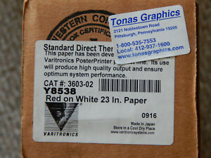 Direct Thermal Plus Dtp 23 Red On White Y8538 Poster Printer Paper
