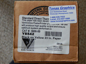 Direct Thermal Plus Dtp 23 Black On Yellow Y8542 Poster Printer Paper