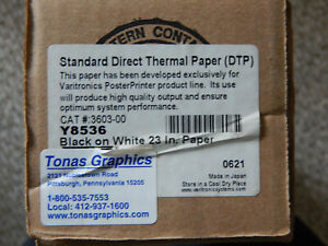 Direct Thermal Plus Dtp 23 Black On White Y8536 Poster Printer Paper