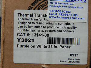 Thermal Transfer Plus Ttp 23 Purple On White Y3021 Poster Printer Paper