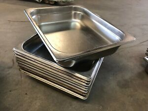 Set Of 9 Stainless Steel 12 75 X 10 5 X 2 5 Insert Steam Food Sauce Pans