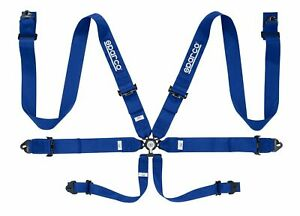 Sparco Competition 6 Pt 3 Steel Blue Harness 04818racaz