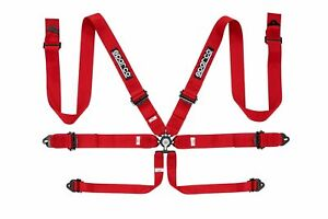 Sparco Competition 6 Pt 3 Aluminum Red Harness 04818ralrs