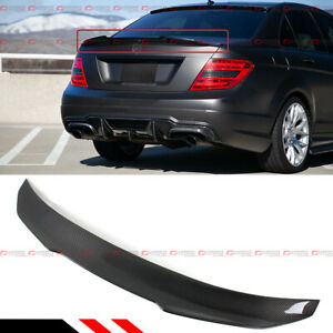 For 08 14 Mercedes Benz W204 C250 C300 Carbon Fiber Psm Style Trunk Spoiler Wing