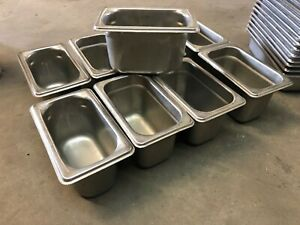 Set Of 9 Stainless Steel 7 X 4 5 X 4 Insert Steam Table Food Sauce Pans Nsf