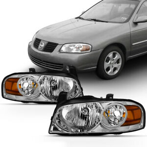 plug play For 04 06 Nissan Sentra B15 Factory Stlye Replacement Headlight Lamp