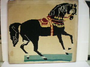 Antique Prancing Horse Freehand Cross Stitch Folk