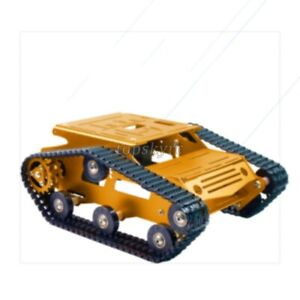 Tracked Tank Chassis Cnc Rc Chassis Aluminum Alloy Diy Unfinished Golden Sztop