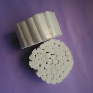 2 Packs Dental Disposable Cotton Rolls 100 Rolls White Color High Quality Tooth