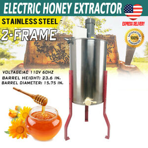 Pro Electric 2 Frame Stainless Steel Honey Extractor Beekeeping Equipment Stand