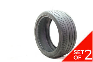 Set Of 2 Used 285 35zr20 Michelin Pilot Sport 3 Mo 104y 4 5 32