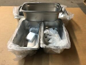 Set Of 6 Stainless Steel 12 75 X 7 X 4 Insert Steam Table Food Sauce Pans