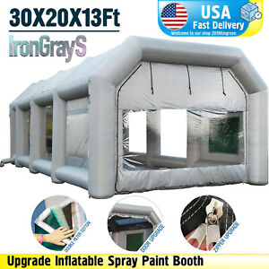 30x20x13ft Large Mobile Portable Inflatable Car Spray Paint Booth Custom Tent