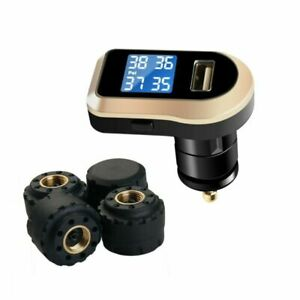 Vesafe Wireless Tire Pressure Monitoring System tpms With 4 External Cap Sens