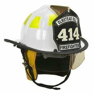 Cairns White 1010 Traditional Fiberglass Helmet Nfpa Osha 1010 With Defender