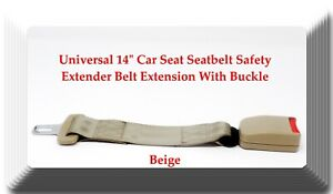 Beige Universal 14 Car Seat Seatbelt Safety Extender Belt Extension With Buckle