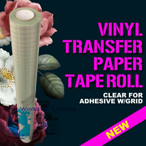 Feet Roll Clear Transfer Tape W Grid For Adhesive Vinyl