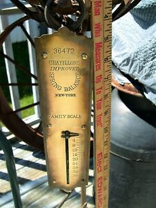 Antique Chatillons Improved Spring Balance Hanging Scale New York Larger Size