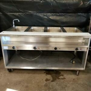 Four Closed Well Electric Steam Table W Cutting Board