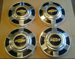 76 87 Chevy 3 4 1 Ton 8 Lug Pickup Truck Dog Dish Hub Caps 12 Set Scratched Up