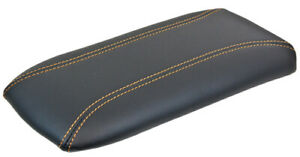 New Center Console Lid Armrest For Ford Explorer Mountaineer Black Gold Stitch