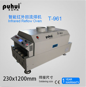New Led T961 Reflow Oven Bga Smt Sirocco Rapid Infrared Soldering Machine Y