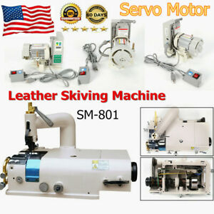 Sm801 Leather Skiving Machin Skiver electric Industry Sewing Machine Servo Motor