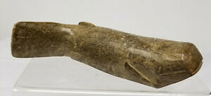 Antique Carved Soapstone Inuit Eskimo Fish Carving Statue Native American Indian