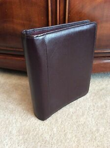 Classic 1 5 Franklin Covey Quest Burgundy Brown Leather Open Planner Binder