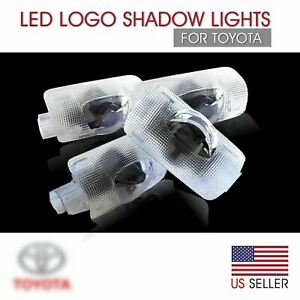 Led Door Light Logo For Toyota Welcome Courtesy Projector Lighting Camry 4 Pcs
