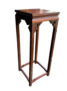 Vintage Baker Hollywood Regency Oriental Plant Stand Walnut