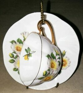 Shelley Fine Bone China Tea Cup Saucer England Vintage