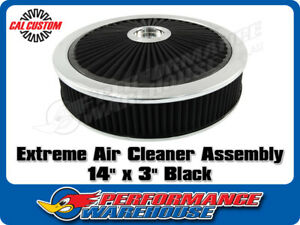Extreme Air Cleaner Assembly 14 X 3 Black Filter Element Performance