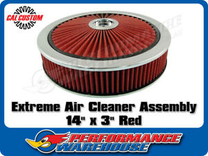 Extreme Air Cleaner Assembly 14 X 3 Red Filter Element Performance