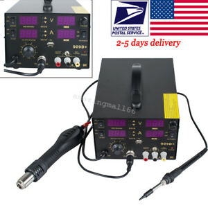 4 In1 Hot Air Gun Unit Soldering Rework Station Welding Solder Machine 220v Ac