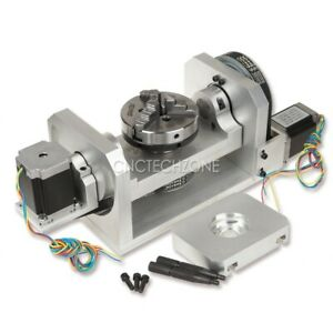 Cnc Router Machine Rotary Indexer Table 4th 5th Rotational Axis With Chuck