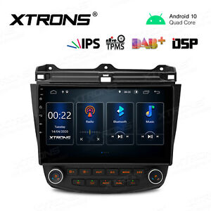 10 1 Android 10 0 Car Stereo Gps Radio Head Unit 4core For Honda Accord 2003 07