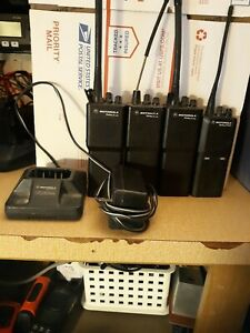 Lot Of Three 3 Motorola Radius P110 Portable Radios And 1 p1225