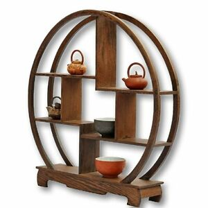 Antique Display Wood Rack Furniture Object round 30