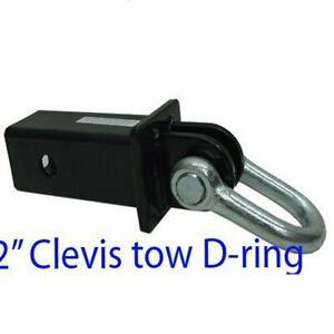 2 Hitch Clevis Tow D ring Shackle Bow 5 000lb Capacity