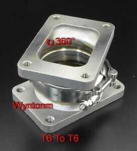 T6 To T6 Turbo Inlet V Band Stainless Steel 360 Rotation Conversion Adp Flange
