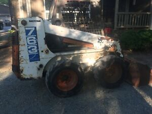 Bobcat 763 With Kubota Diesel With 709 Backhoe Attachment