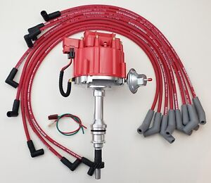 Ford Small Block 351w Windsor Hei Distributor Red 8 5mm Spark Plug Wires Usa