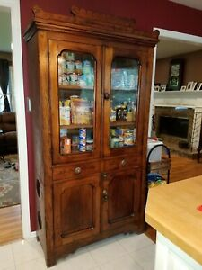 Antique Eastlake Cupboard With Pie Safe