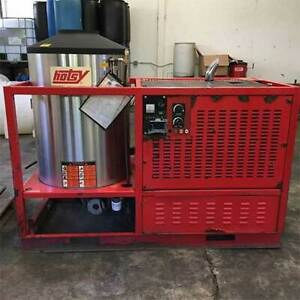 Used Hotsy Hhs Diesel diesel 8gpm 3000psi Hot Water Pressure Washer Trailer