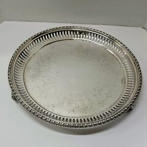 Martin Hall Sheffield Silver Plate Footed Tray Re Plated By Tiffany