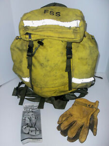 Us Forest Service Fss Firefighter Yellow Wildland Fire Firefighting Backpack