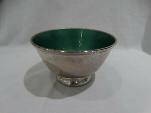 Towle Green Enamel Silver Plated Paul Revere Bowl 5001