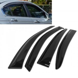 For 2008 2012 Honda Accord 4pcs Smoke Acrylic Window Sun Rain Visors Wind Guard
